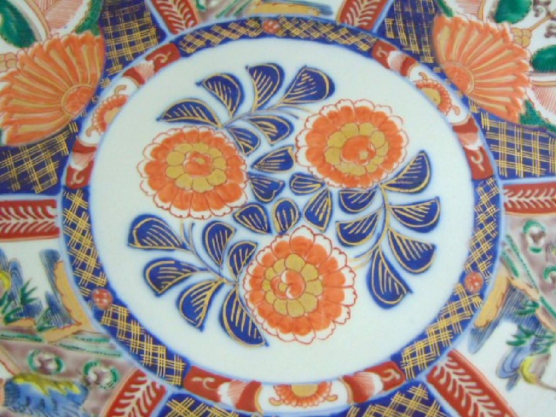 ANTIQUE HAND PAINTED JAPANESE PORCELAIN IMARI CHARGER - 4