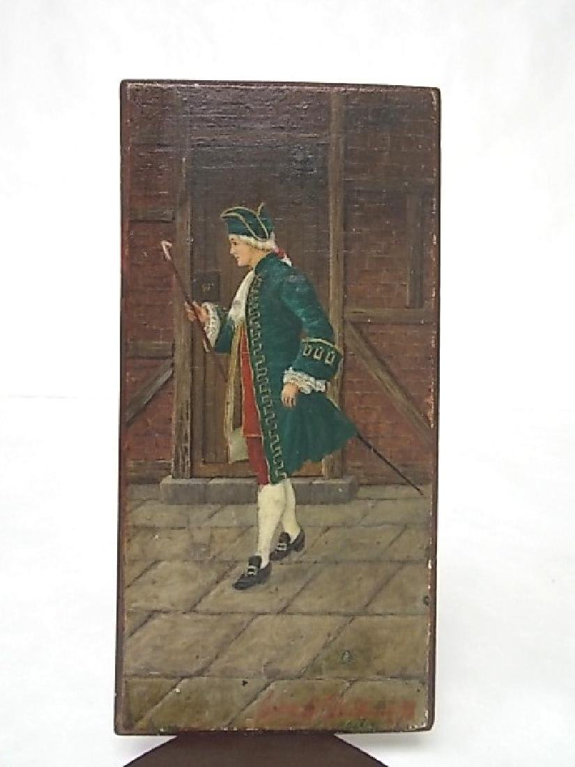 ANTIQUE PAINTING OF COLONIAL MAN BY LISTED ARTIST 1898