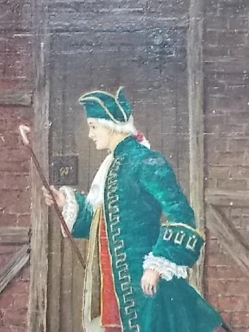 ANTIQUE PAINTING OF COLONIAL MAN BY LISTED ARTIST 1898 - 2