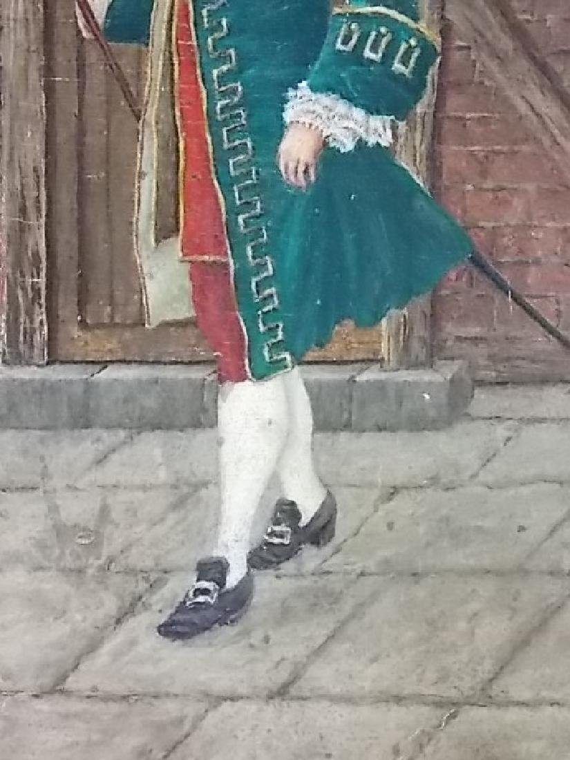 ANTIQUE PAINTING OF COLONIAL MAN BY LISTED ARTIST 1898 - 3