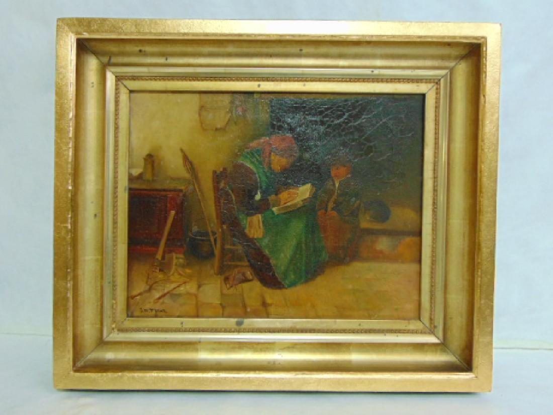 ANTIQUE EUROPEAN STILL LIFE PAINTING BY FLINT