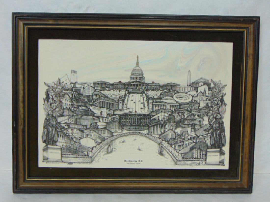 LIMITED EDITION ENGRAVED COLLAGE OF WASHINGTON D.C.