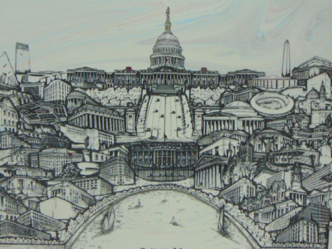 LIMITED EDITION ENGRAVED COLLAGE OF WASHINGTON D.C. - 2