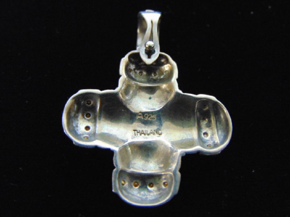 Vintage Sterling Silver Pendant - 2