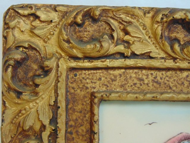 BEAUTIFUL VINTAGE ARTINI RESIN PICTURE W/ FRAME - 3