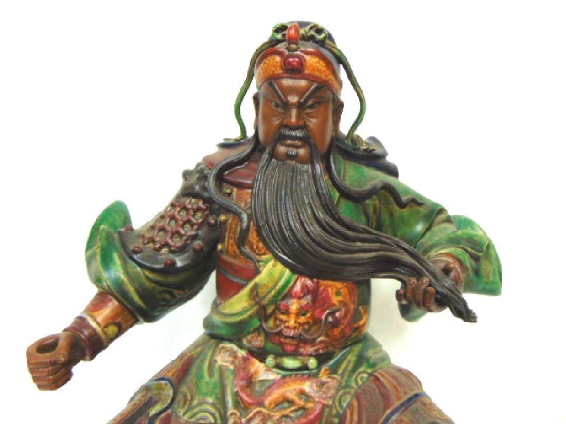 CHINESE GUAN GONG GUAN YU WARRIOR GOD STATUE - 2