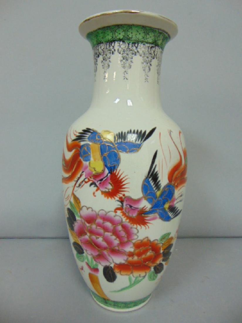 BEAUTIFUL ANTIQUE CHINESE PORCELAIN HAND PAINTED VASE