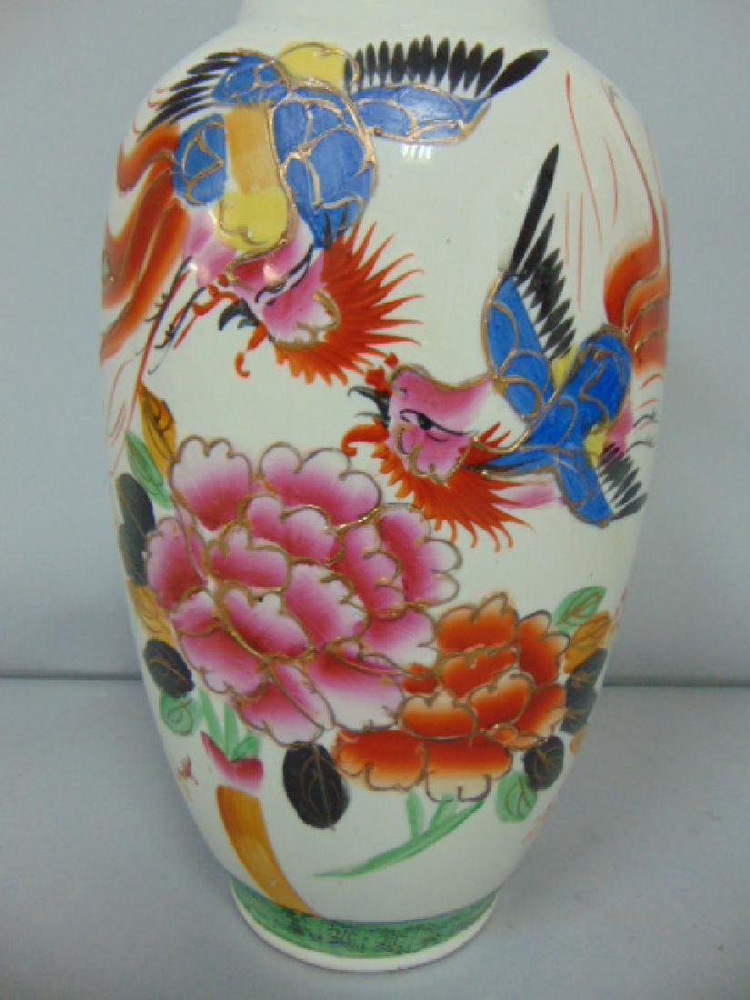 BEAUTIFUL ANTIQUE CHINESE PORCELAIN HAND PAINTED VASE - 4