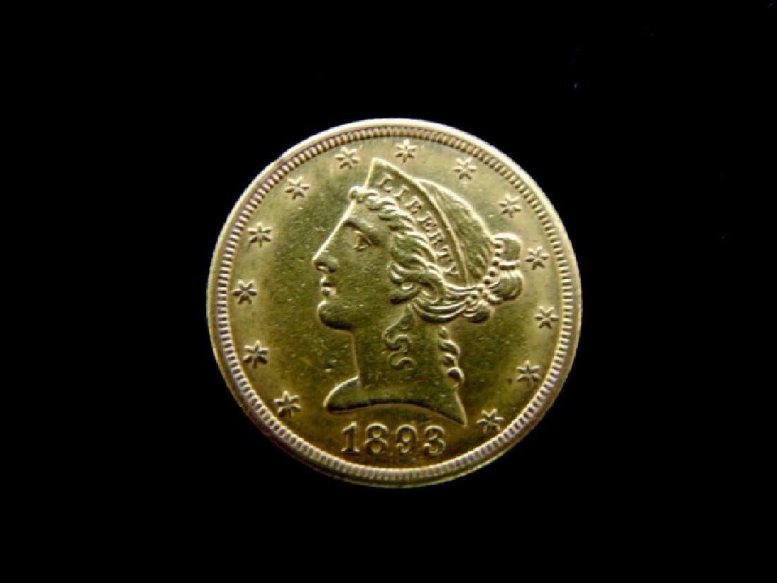 Antique Estate Find 1883-S U.S. $5 Gold Liberty Coin