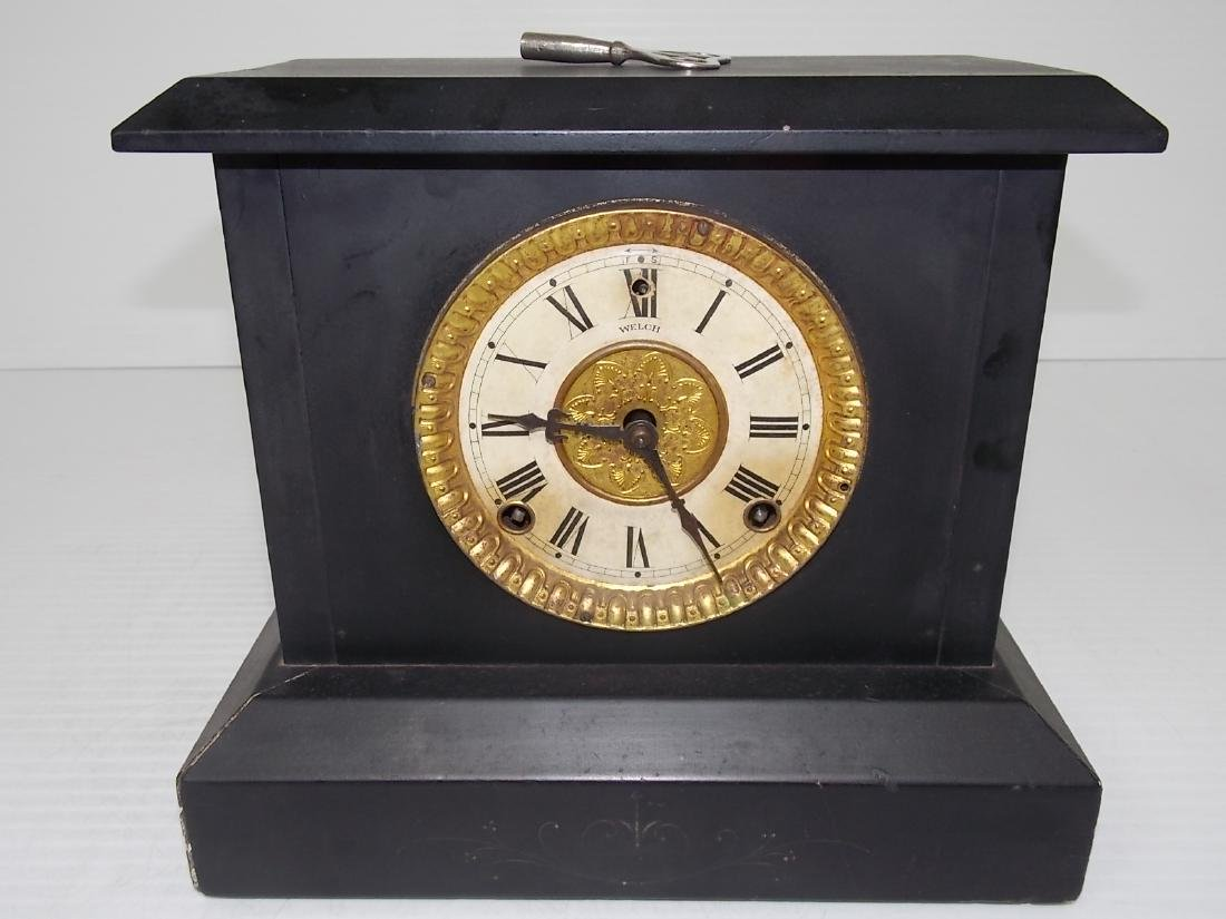 ANTIQUE EASTLAKE VICTORIAN STYLE WELCH MANTLE CLOCK