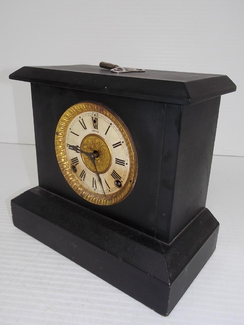 ANTIQUE EASTLAKE VICTORIAN STYLE WELCH MANTLE CLOCK - 2