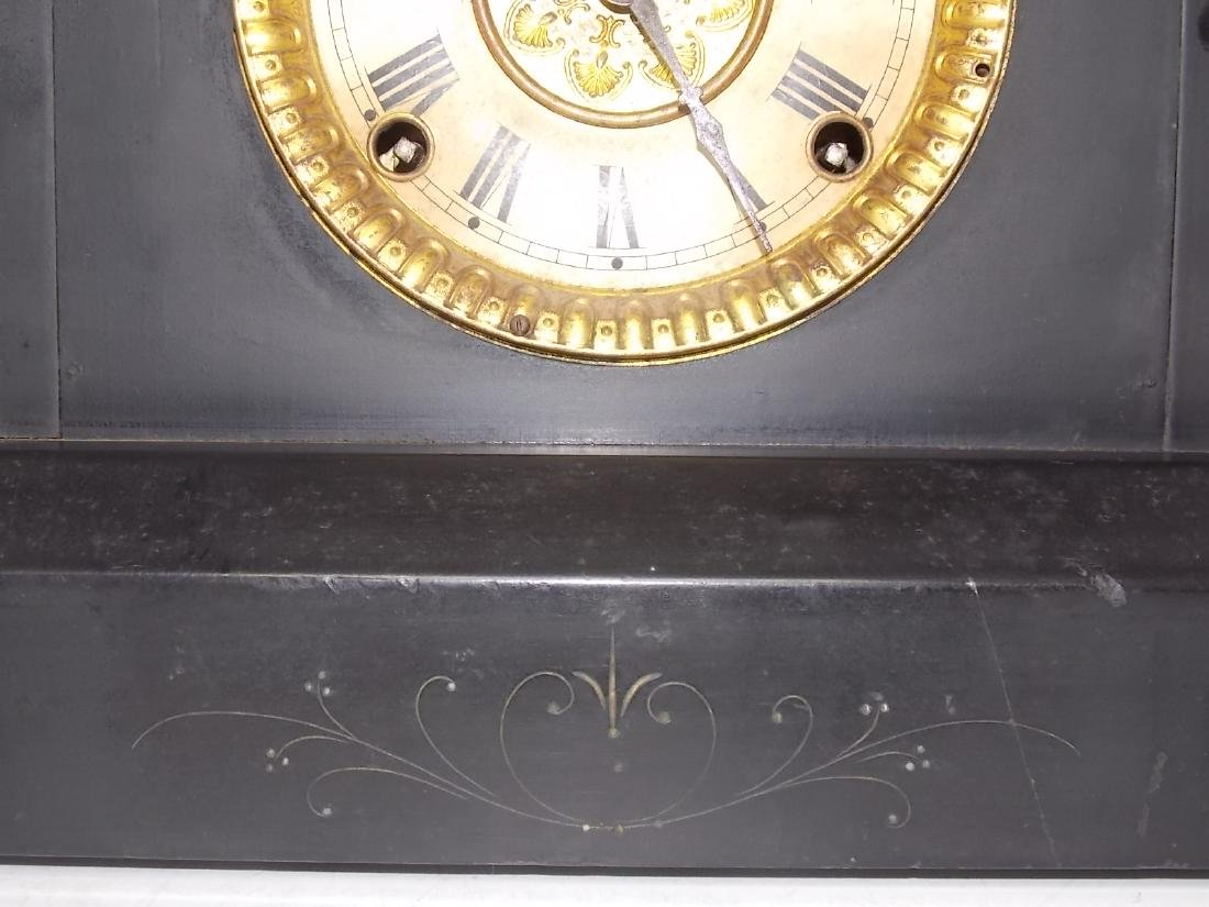 ANTIQUE EASTLAKE VICTORIAN STYLE WELCH MANTLE CLOCK - 5