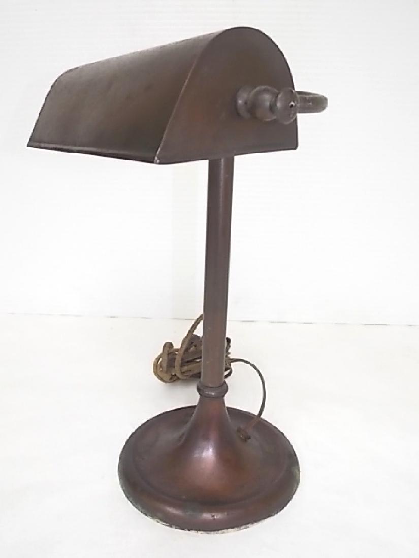 ANTIQUE COPPER STUDENTS DESK LAMP LIGHT - 2