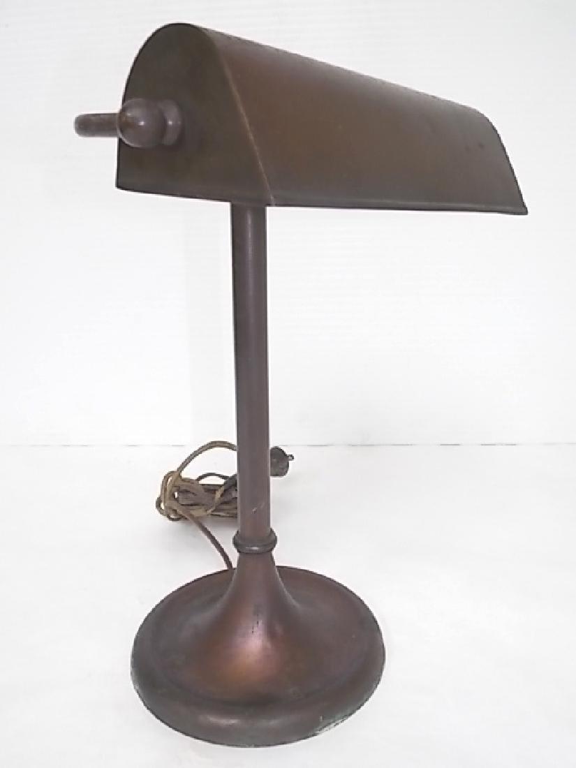 ANTIQUE COPPER STUDENTS DESK LAMP LIGHT - 3
