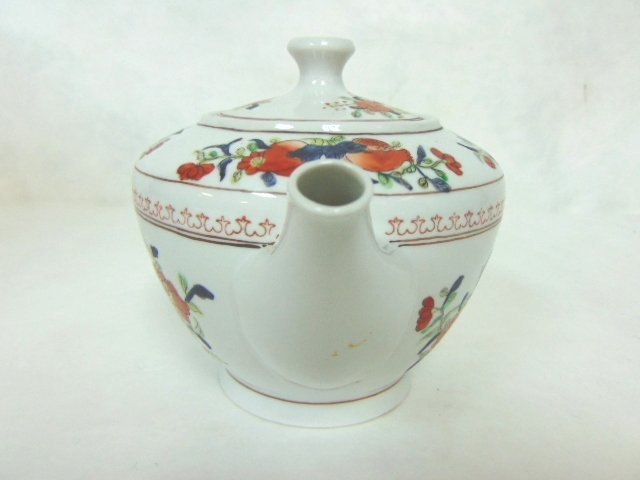 COLLECTIBLE HAND DECORATED CHINESE PORCELAIN TEAPOT - 4