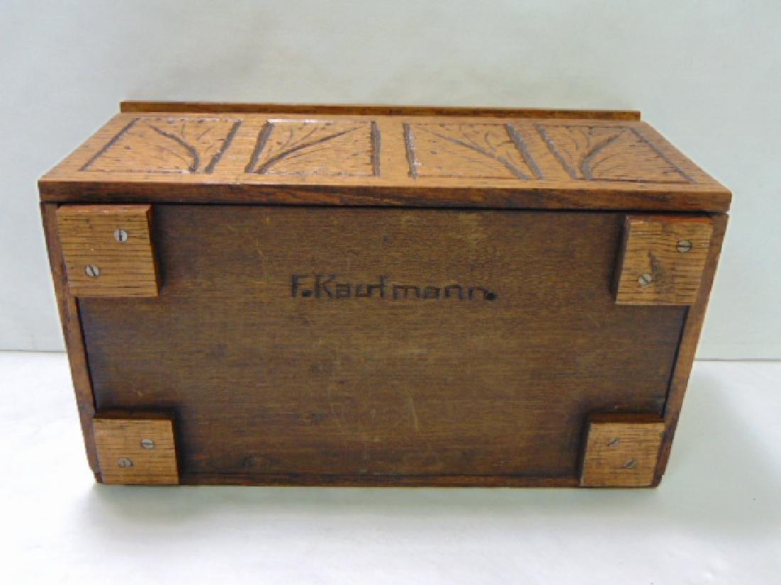 VINTAGE WOODEN FOLK ART DOCUMENT BOX - 6