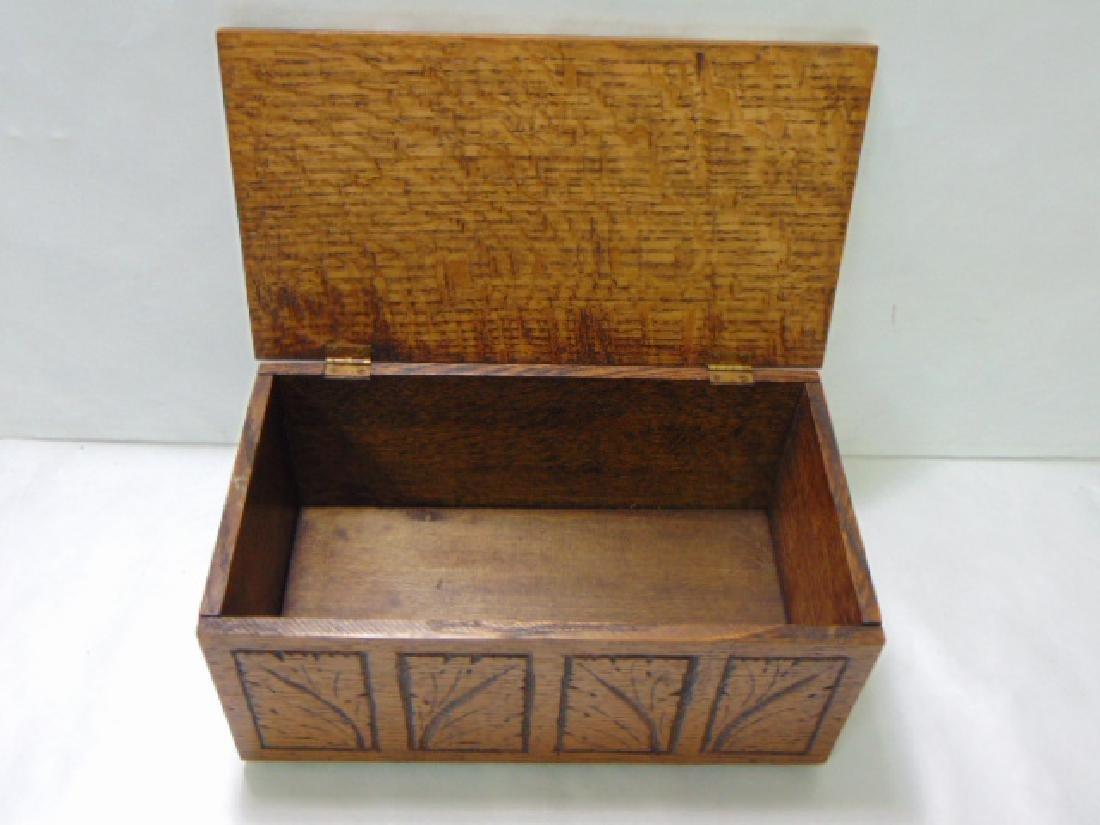 VINTAGE WOODEN FOLK ART DOCUMENT BOX - 7