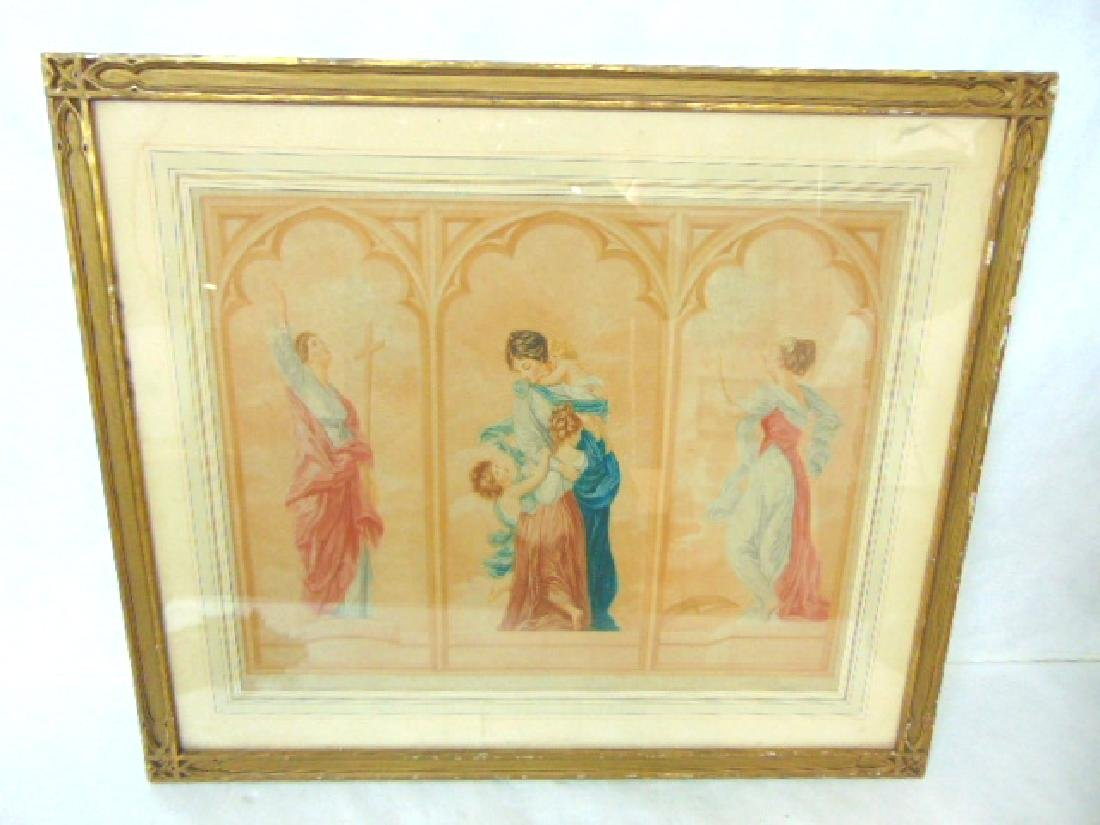 ANTIQUE FRENCH MEZZOTINT ? ENGRAVING BY GAILLARD