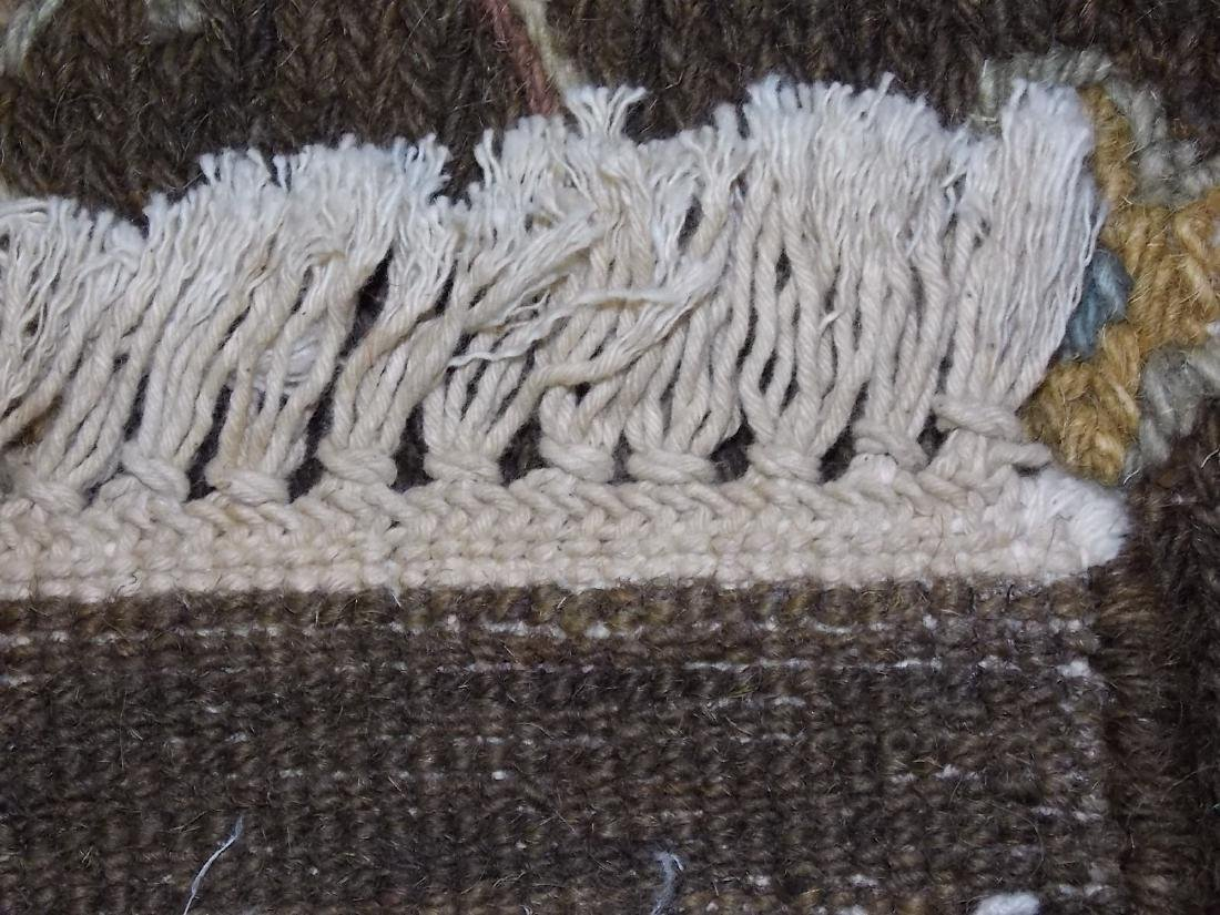 Decorative Indo Sumack Flatweave Rug 8 X 10 Brown/Beige - 5