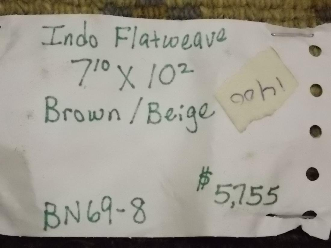Decorative Indo Sumack Flatweave Rug 8 X 10 Brown/Beige - 6