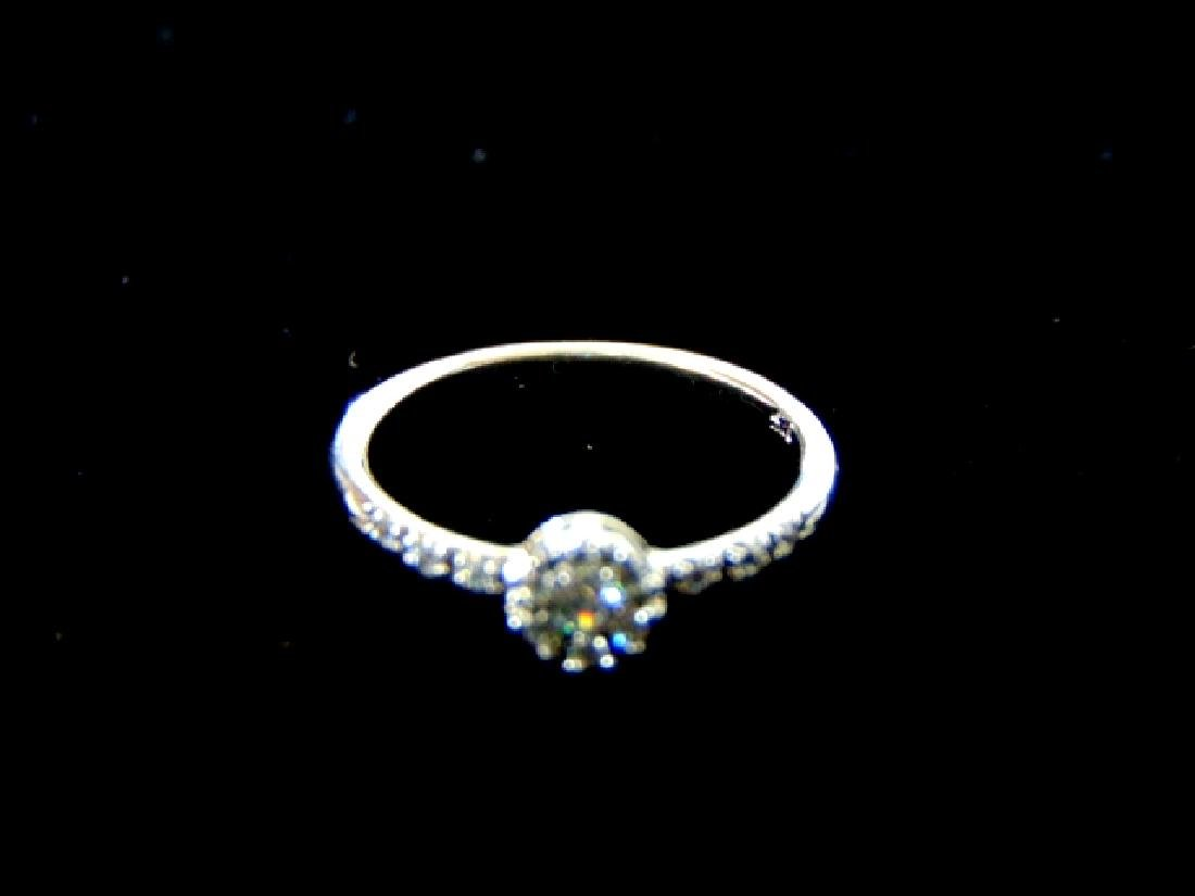 Womens Sterling Silver .925 Ring w/ CZ Stone 1.6g - 6