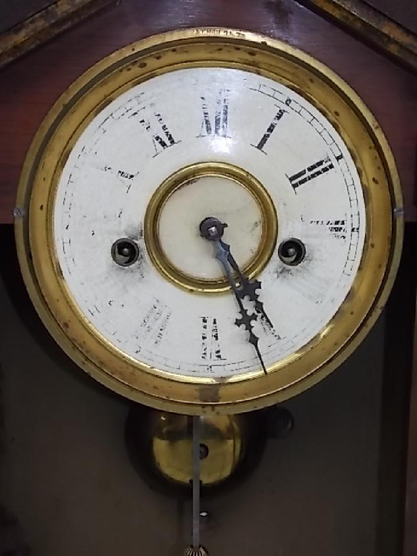 ANTIQUE CATHEDRAL MANTLE CLOCK WATERBURY THOMAS GILBERT - 3