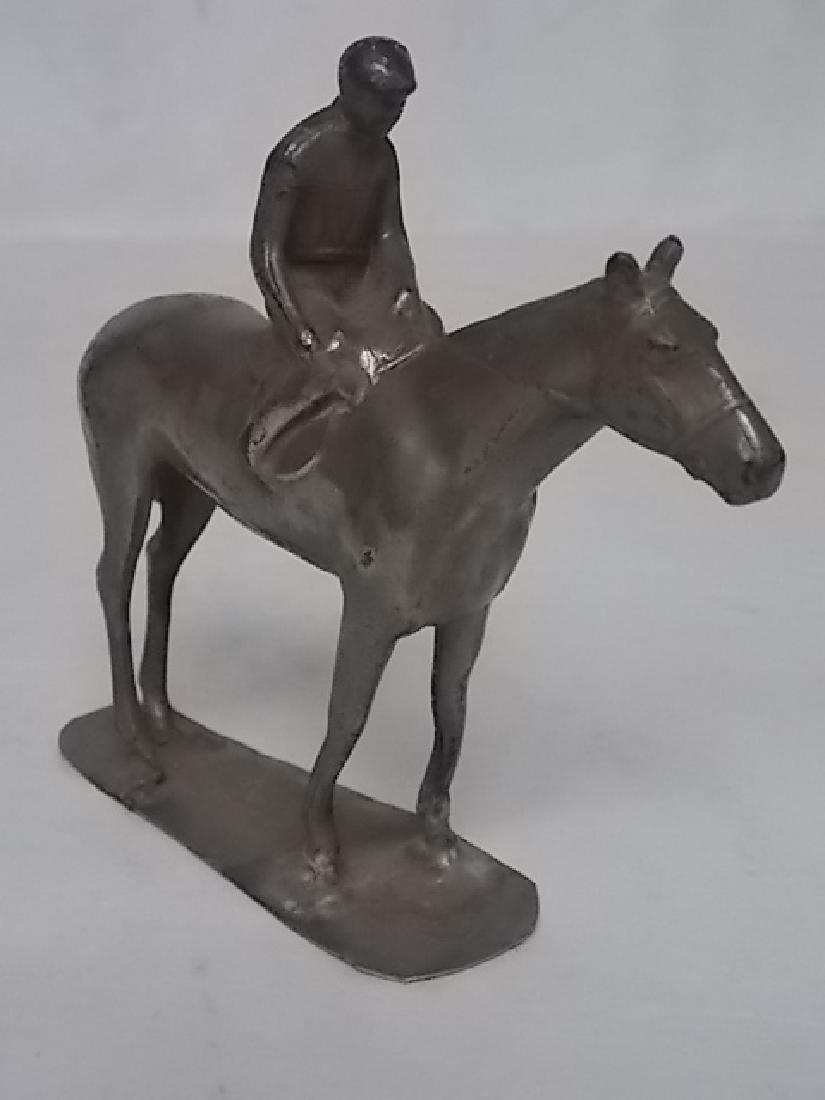 VINTAGE ANTIQUE HORSE & JOCKEY TOY LEAD FIGURE BRITISH - 5