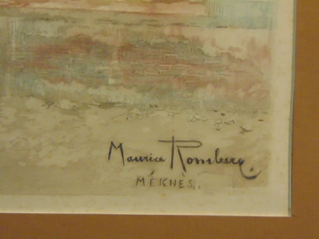 Vintage Antique Aquatint Etching Print Maurice Romberg - 5