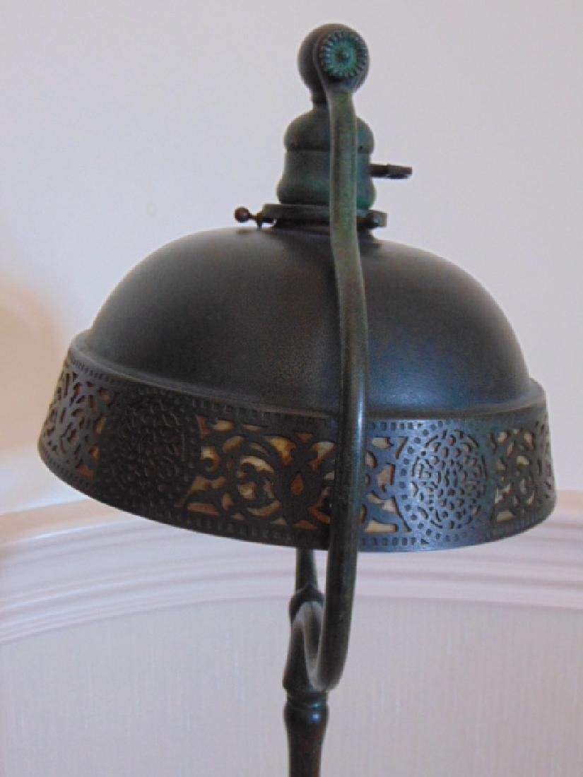 ANTIQUE TIFFANY STAINED GLASS STANDING LAMP - 6
