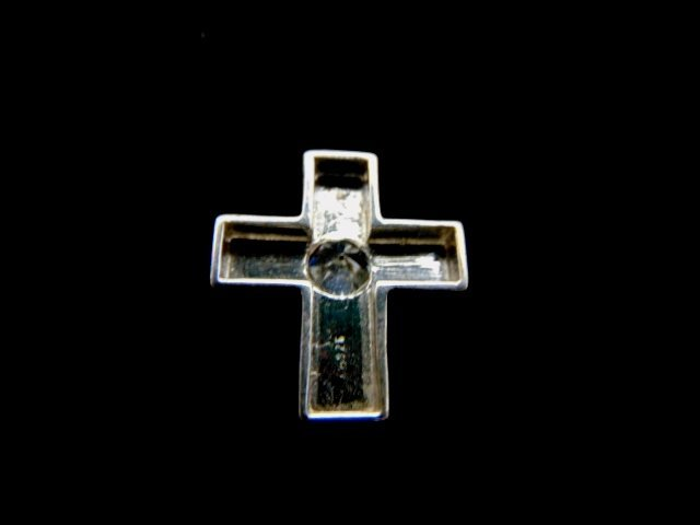 Vintage Estate Sterling Silver Religious Cross Pendant - 2