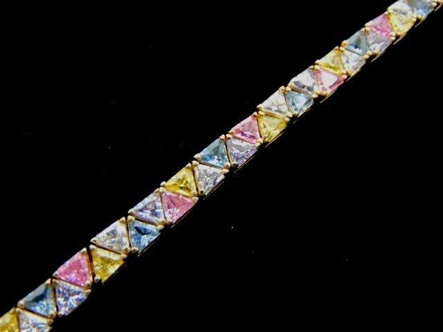 Womens Vintage Sterling Silver Multi Stone Bracelet
