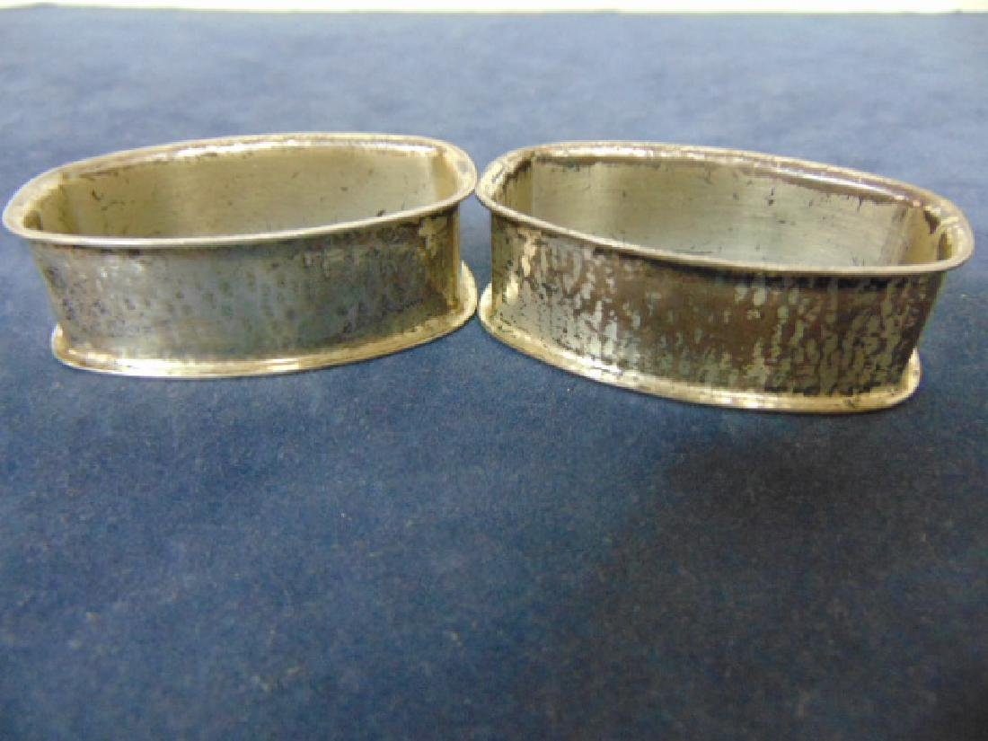 PR ANTIQUE STERLING SILVER WALLACE NAPKIN RINGS 46.4g - 4