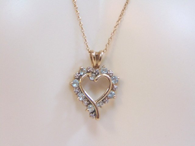 Vintage Sterling Silver Necklace & Heart Pendant