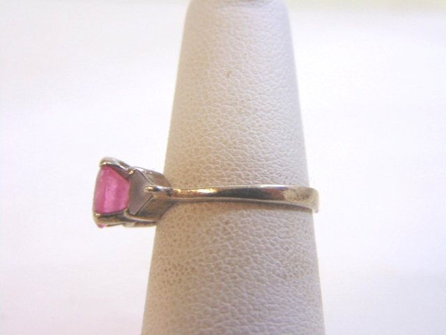 Womens Vintage Estate Sterling Silver w/ Pink Stone - 3