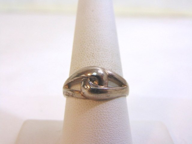 Womens Vintage Estate Sterling Silver Band Ring 3.5g