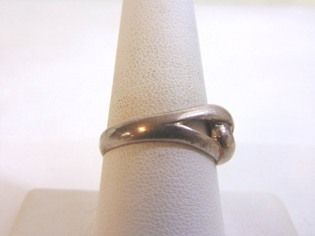 Womens Vintage Estate Sterling Silver Band Ring 3.5g - 2