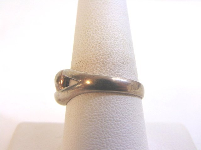 Womens Vintage Estate Sterling Silver Band Ring 3.5g - 3