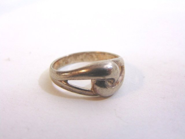 Womens Vintage Estate Sterling Silver Band Ring 3.5g - 5