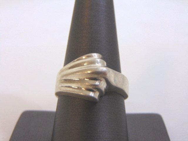 Womens Vintage Estate Sterling Silver Band Ring 10.2g