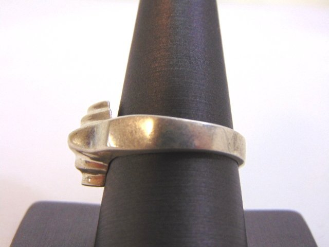 Womens Vintage Estate Sterling Silver Band Ring 10.2g - 3
