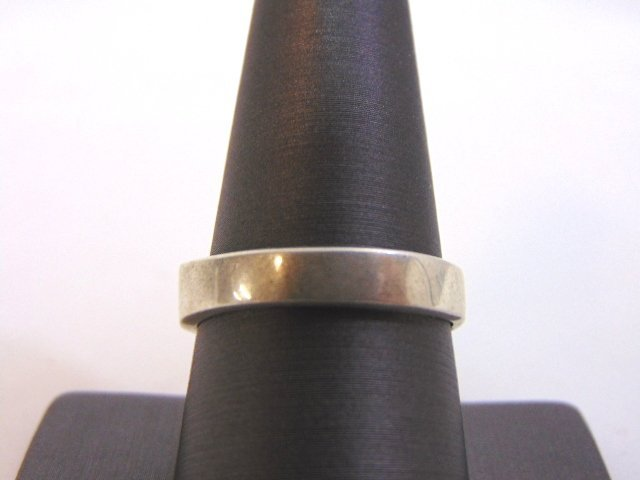 Womens Vintage Estate Sterling Silver Band Ring 10.2g - 4