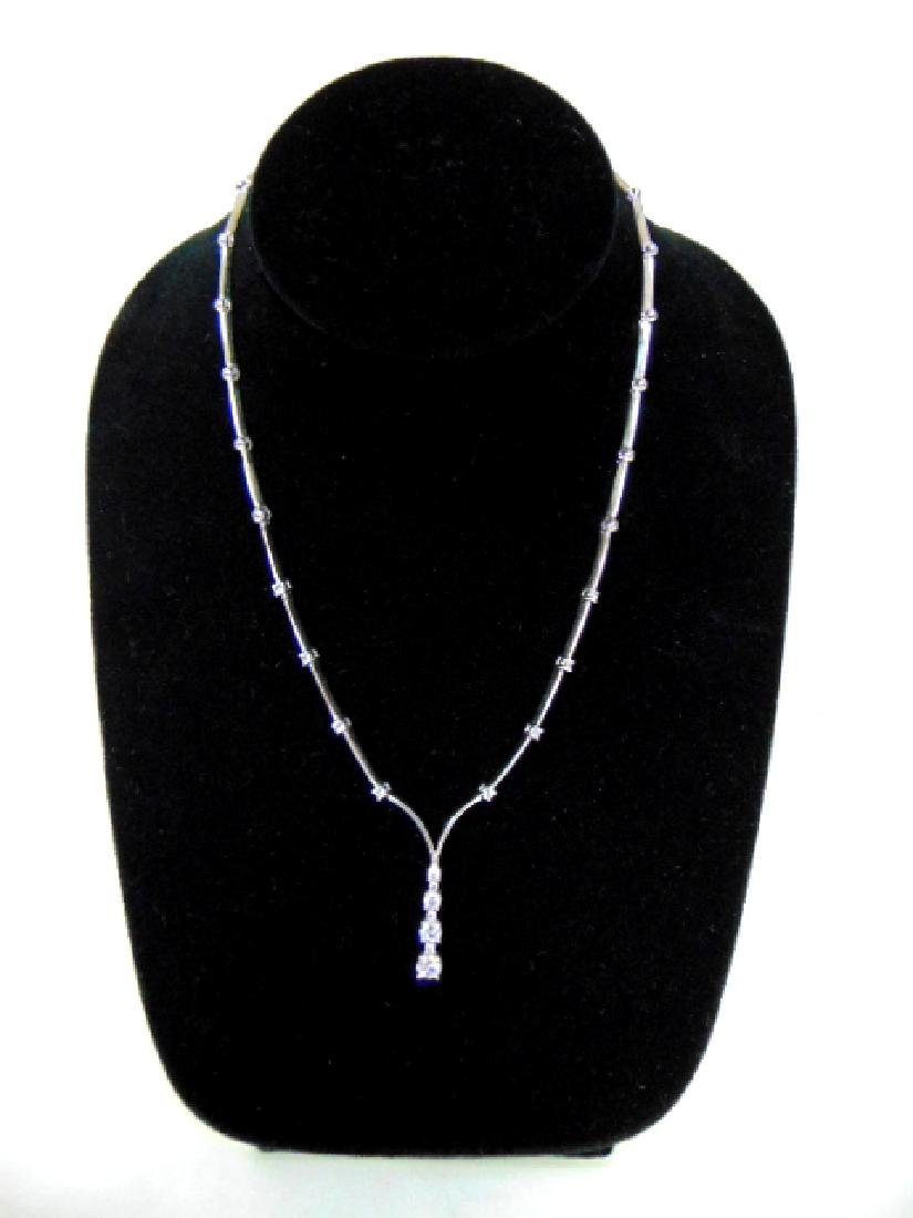 BEAUTIFUL WOMENS STERLING SILVER NECKLACE & PENDANT - 2