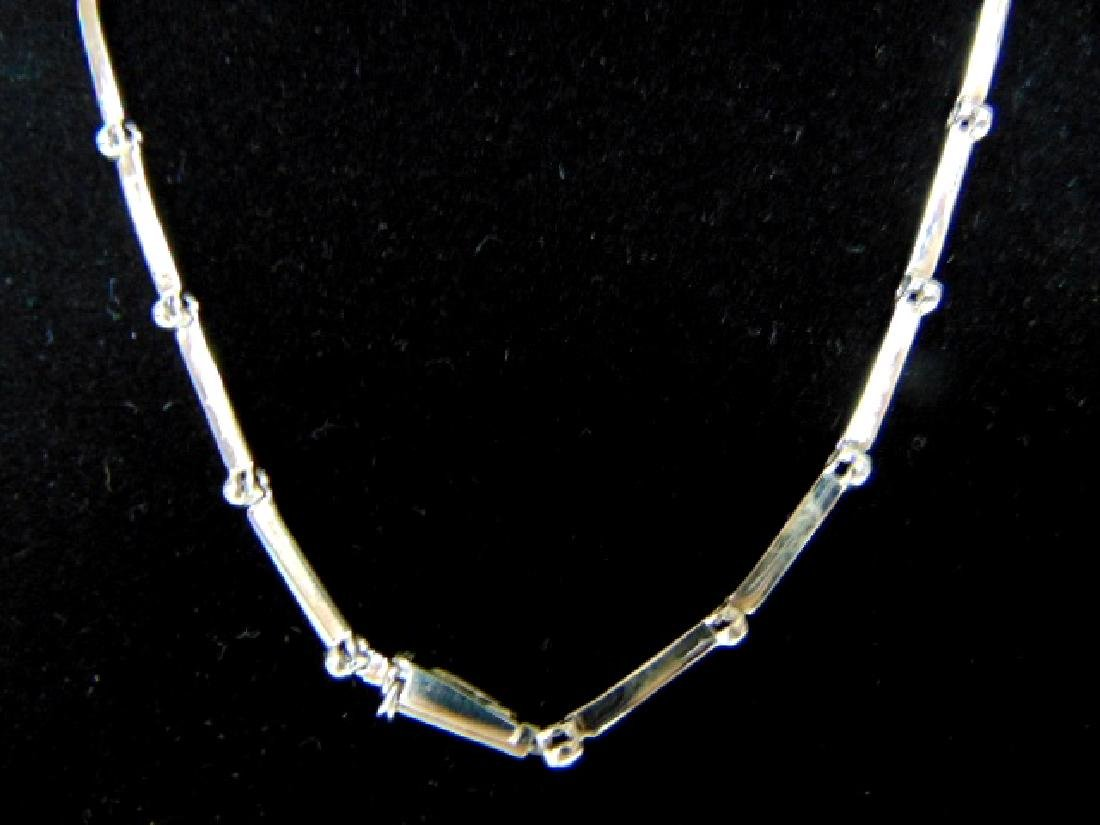 BEAUTIFUL WOMENS STERLING SILVER NECKLACE & PENDANT - 4