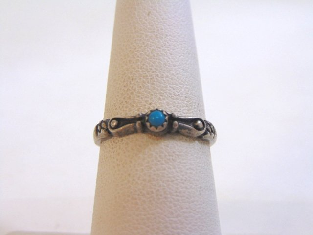 Womens Vintage Estate Sterling Silver Turquoise ? Ring