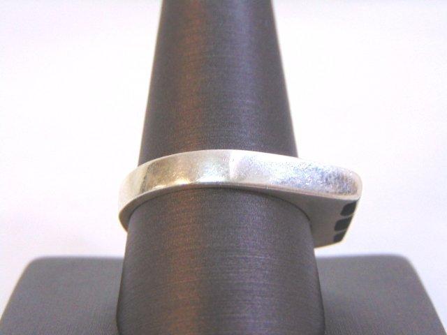 Mens Sterling Silver Ring w/ Malachite - 2