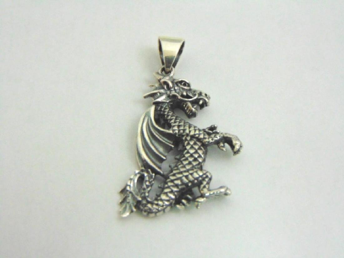 Sterling Silver Chinese Dragon Pendant