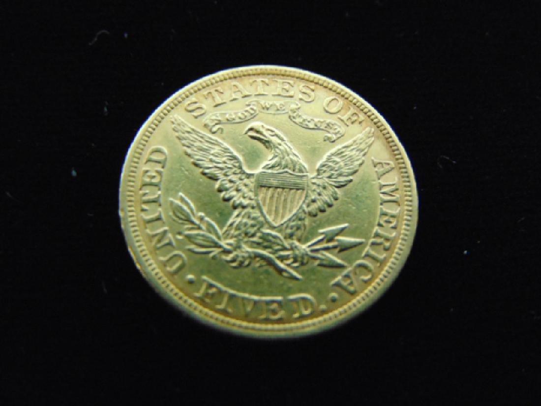ESTATE FIND 1897 $5 LIBERTY HALF EAGLE GOLD COIN - 2