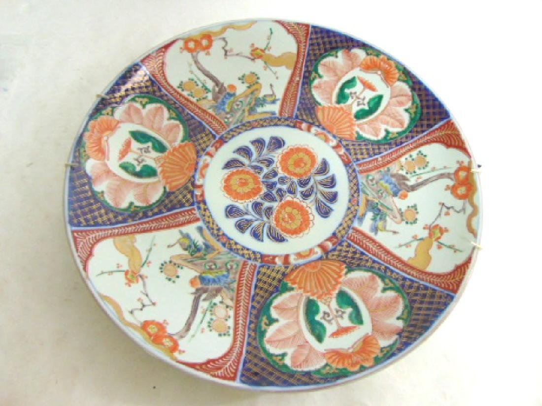 ANTIQUE HAND PAINTED JAPANESE PORCELAIN IMARI CHARGER