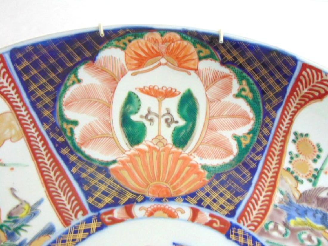 ANTIQUE HAND PAINTED JAPANESE PORCELAIN IMARI CHARGER - 5