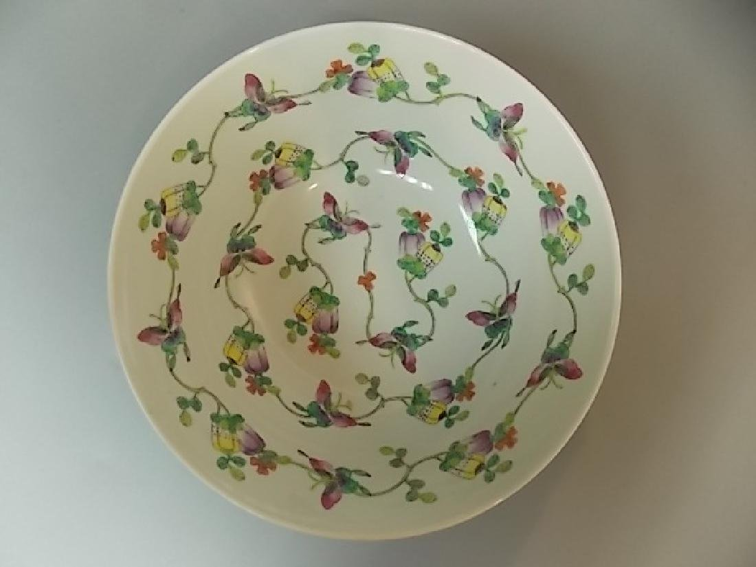 ANTIQUE HAND PAINTED CHINESE JAPANESE PORCELAIN BOWL - 3